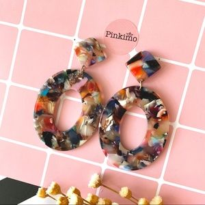 Marble Pattern Acrylic Earrings